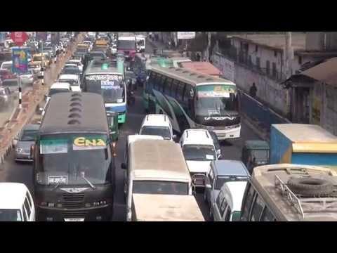 Incredible traffic in Dhaka, Bangladesh in HD, 2014, part 1