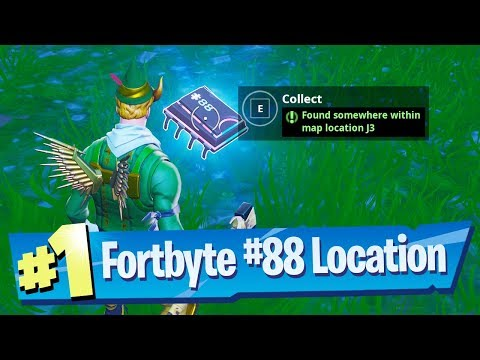 Fortnite Fortbyte #88 Location - Found Somewhere Within Map Location J3