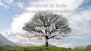 Devoțional 23 Iunie - Remediu pentru sărăcia sufletului