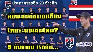 คอมเมนต์ชาวอาเซียนหลังไทยประกาศรายชื่อ 23 นักเตะทีมชาติไทย ชุดลุยบอลโลกฯ