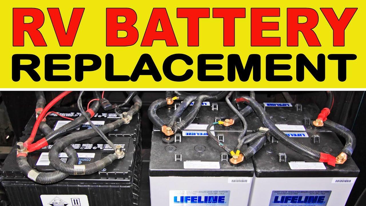 how to replace deep cycle rv house batteries youtube rh youtube com RV Transfer Switch Wiring RV Generator Wiring Diagram