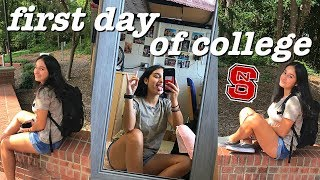 FIRST DAY OF COLLEGE VLOG | NC State University