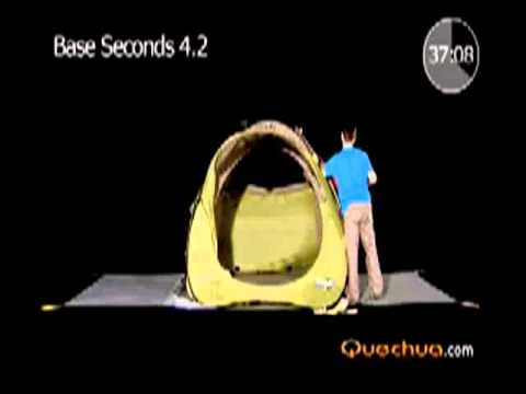 quechua base seconds 4 2 hiking tent youtube. Black Bedroom Furniture Sets. Home Design Ideas