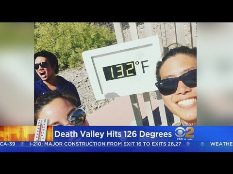 Tourists Flock To Death Valley During Heat Wave