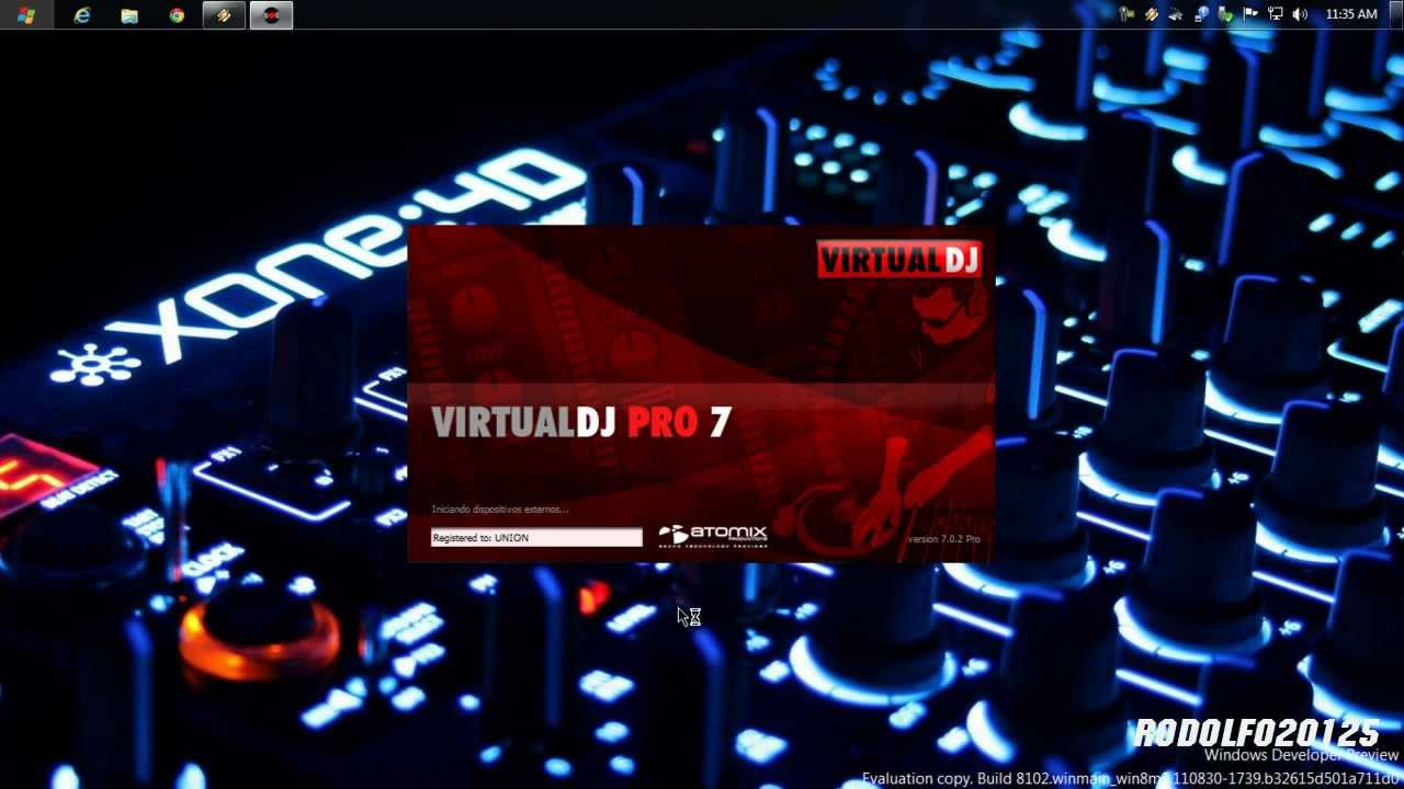 Instalando Virtual DJ Pro 7 En Windows 8 Beta - YouTube