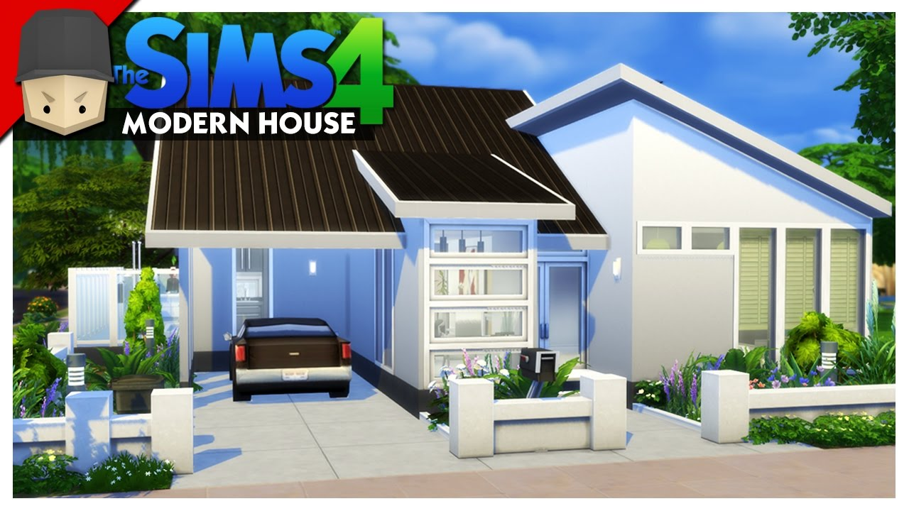 Small modern house the sims 4 house building youtube for Sims 4 house plans