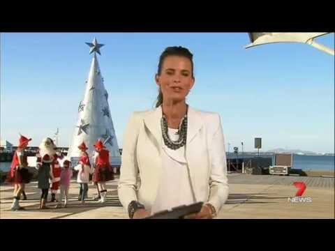 Channel 7 News does the weather report from Geelong