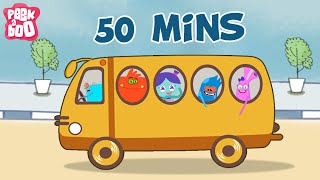 Wheels On The Bus And More Favourite Nursery Rhymes For Kids | 50 Mins Compilation