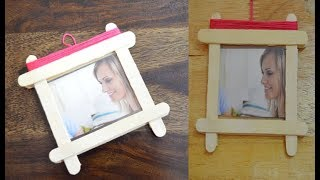 Photo Frame With Popsicle Sticks | Easy Ice Cream Stick Craft Photo Frame | Beauty Express