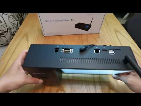 Máy tính bảng tablet Windows tích hợp máy in cho máy Pos pipo X3