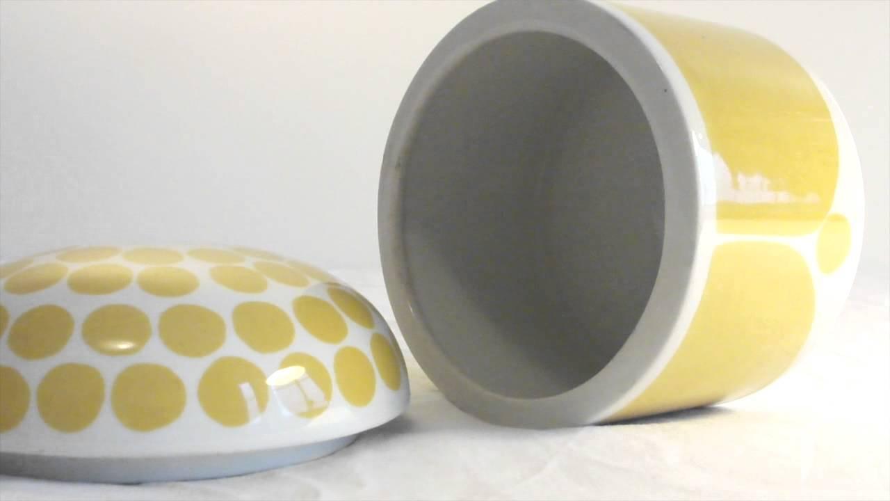 Yellow sugar bowls with lids - Arabia Finland Sunnuntai Rare Sugar Bowl Yellow Mid Century Modern Kaipiainen