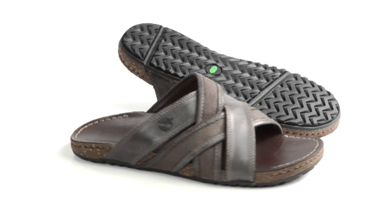 vegetariano Ninguna Arco iris  Timberland Earthkeepers Rugged Escape Slide Sandals - Leather (For Men) -  YouTube