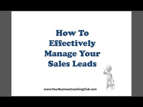 Effective Sales Lead Management - YouTube