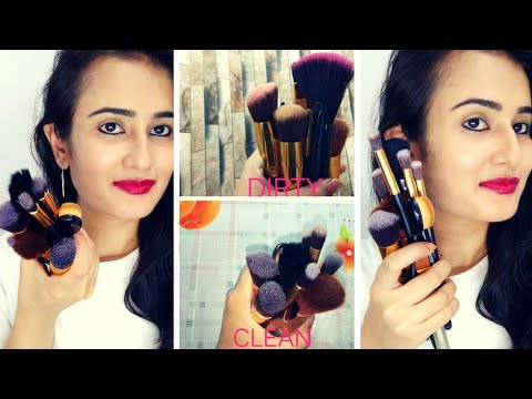 How to CLEAN MAKEUP BRUSHES | Deep Cleaning | How to Disinfectant Brushes | SWATI BHAMBRA