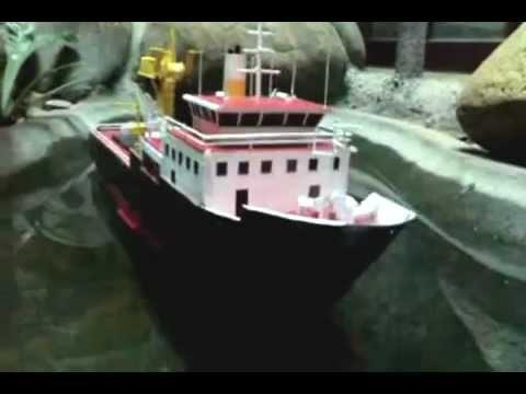 Floating cardboard model ship!!!