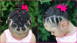 Peinado Facil Y Rapido Para Ninas Con Ligas Y Coletas Peinados