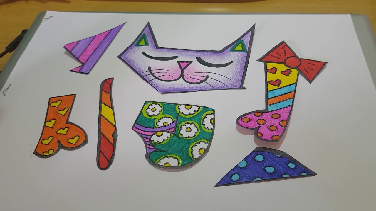 Capa Do Caderno De Arte O Gato De Romero Britto Youtube