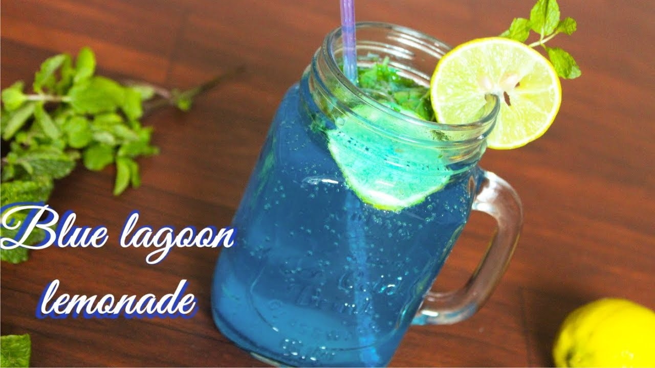 Blue Lagoon Lemonade Blue Lagoon Mocktail Blue Curacao Lemonade Mocktail Recipe Non Alchoholic