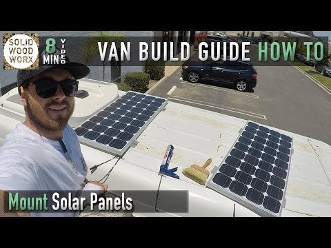 Mounting Solar Panels to Your Van
