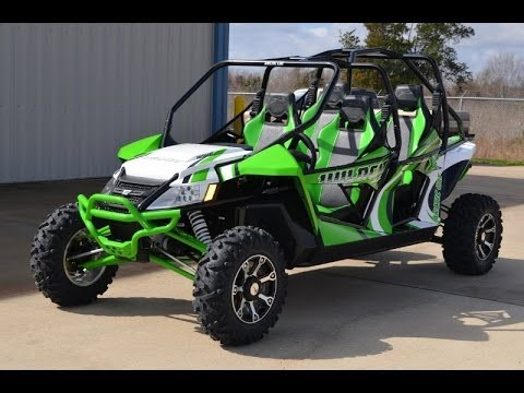 2014 Arctic Cat Wildcat 4X Team Arctic Green Overview and Review ...