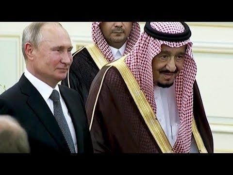 Путина встретили в Саудовской Аравии по-королевски