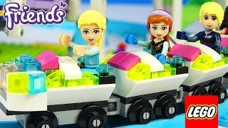 LEGO FRIENDS FROZEN ELSA ANNA Amusement Rides Rollercoaster Ferris Wheel Spinning Tower Stop Motion