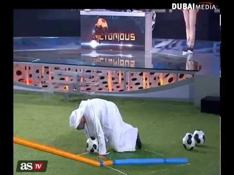 Michel Salgado's surprise to Raul on Dubai TV