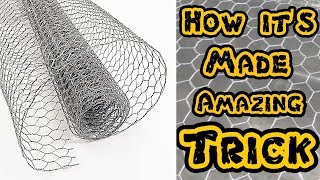 How it's Made | Hexagonal wire mesh | murga jali | Amazing Trick