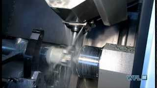 WFL MillTurn Technologies M120 making an Aerospace component with complex features