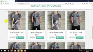 Erstellen Sie E-Commerce-Website-Tutorial : P-6 Fußzeile Erstellen