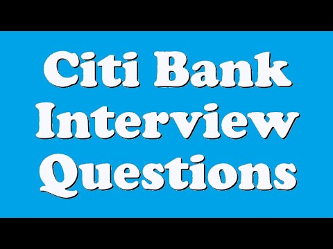 Citi Bank Interview Questions