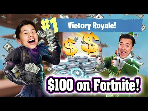 I SPENT OVER $100 ON FORTNITE!!! How To Get V-Bucks! Trolling My Dad 1V1! Double Victory Royale!