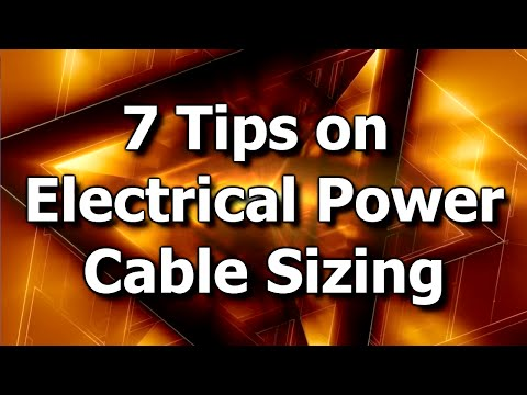 Tips on Electrical Power Cable Sizing thumbnail