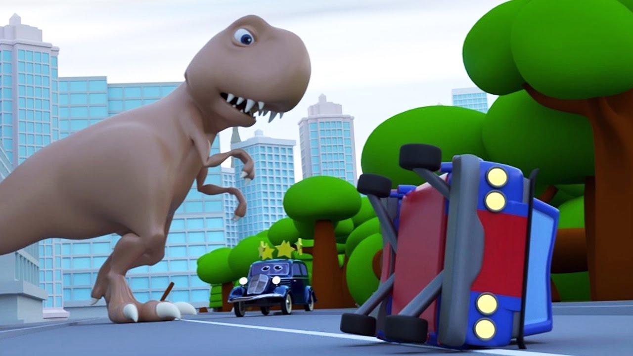 CARTOON CARS HELP DINOSAUR MOVIE FOR KIDS