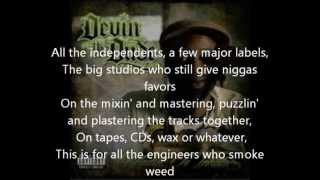 Devin The Dude- What a Job- Lyrics