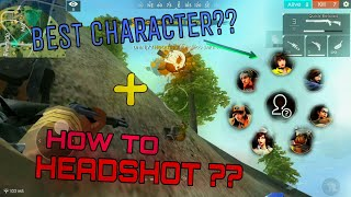 BEST CHARACTER + HOW TO HEADSHOT?? [ENGLISH] | FREE FIRE STORIES