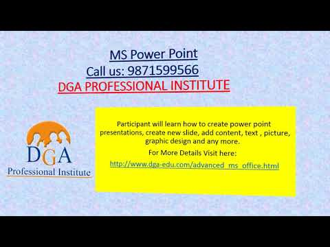 MS Office Course In Delhi (MS Word, PowerPoint, MS Excel, MS Access, Outlook) Dwarka