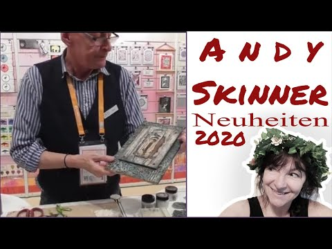 Andy Skinner mit Neuheiten auf der Creativeworld 2020 in Frankfurt ... Mixed Media Kunst