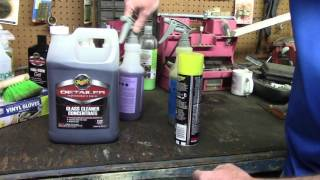 PROBLEMS WITH MEGUIAR'S D120 GLASS CLEANER!
