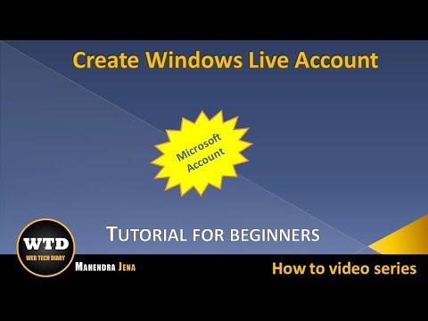 Create Windows Live Account