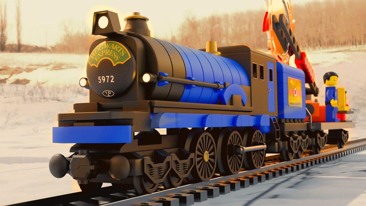 Lego  police thief cartoon - lego train videos - choo choo train kids videos