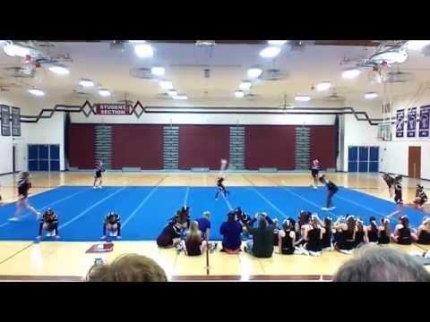 Menomonee Falls High School combined V/JV Cheer showcase routine 2015