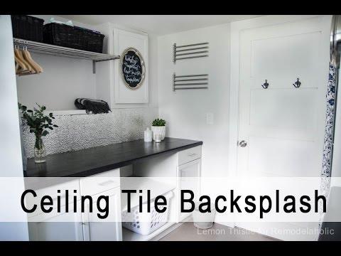 metal ceiling tile backsplash tutorial - Metal Ceiling Tiles