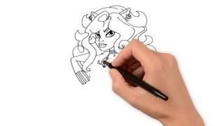 Как нарисовать Монстр Хай(Как нарисовать Монстр Хай http://www.youtube.com/c/detimoi Подписывайтесь на наш канал и учитесь рисовать http://gordrich.com/videopo..., 2015-06-30T10:46:11.000Z)