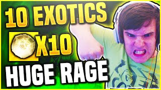 Destiny OPENING EXOTIC ENGRAMS - BIGGEST RAGE EVER! (DESTINY 10 EXOTIC ENGRAM OPENING)