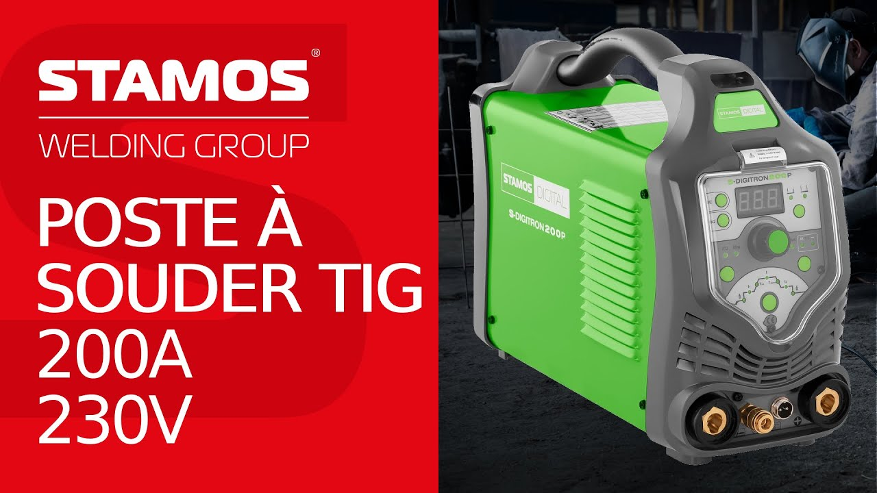 poste souder combin tig 200 amp res et 230 v pulse youtube