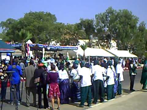 President Jammeh dancing Jola music