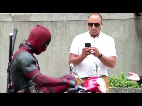 DEADPOOL 2 - Filming in Vancouver on Vespa (Behind the scenes) NEW