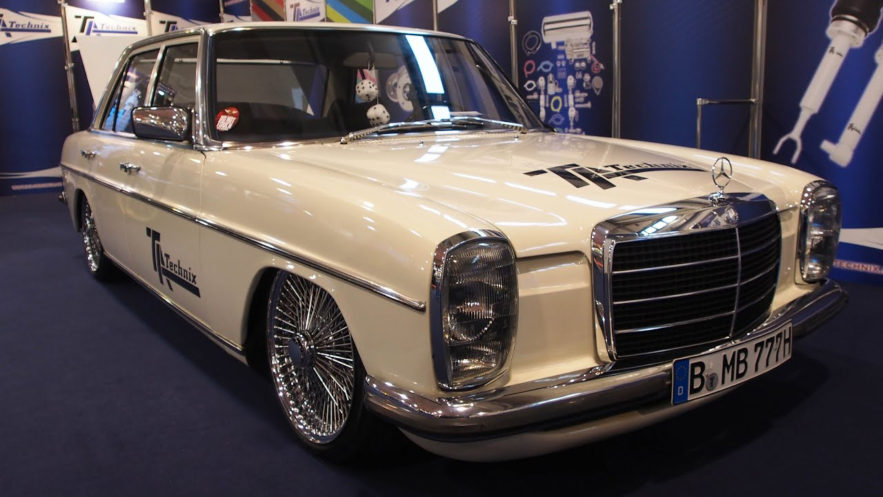 mercedes benz w115 strich 8 lowrider at essen motorshow exterior walkaround youtube. Black Bedroom Furniture Sets. Home Design Ideas