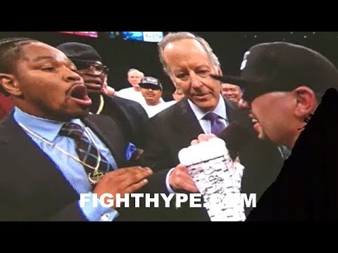 SHAWN PORTER & DANNY GARCIA HEATED CONFRONTATION IN RING AFTER GARCIA KNOCKS OUT RIOS